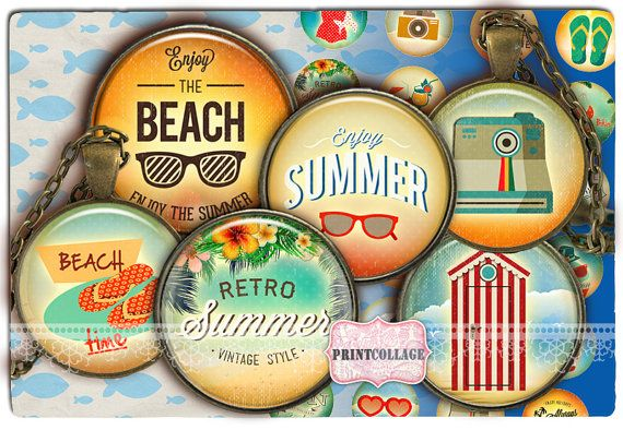 Summer chill images Digital Printable Sheet by PrintCollage