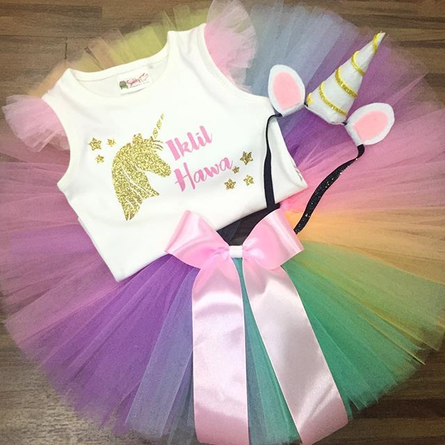Unicorn themed tutu outfit for the perfect unicorn party;)