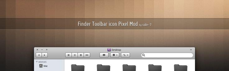Finder Toolbar icon Pixel Mod  by ~Side-7