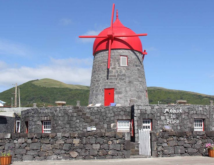 Windmill's hotel at Graciosa Island, Azores.  Photo by Leila Monteiro Lins. DISCOVER magazine.