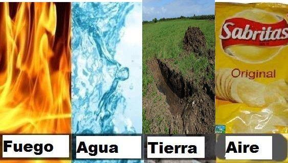 Los 4 elementos según los memes de Papas Sabritas