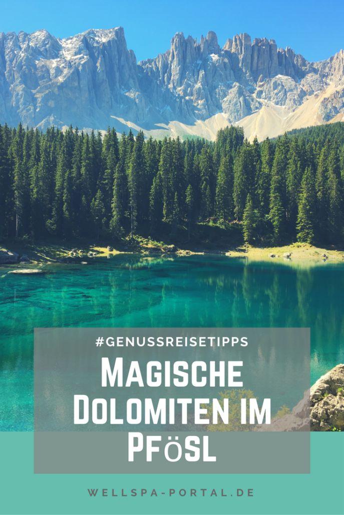 Magische Dolomiten, Südtirol. Auszeit und Genussreisetipps lassen sich hier perfekt erleben. Beim Wandern, Biken oder Schwimmen. Urlaub im Eggental bietet von Familienurlaub, Wanderurlaub bis zum Wellnessurlaub für jeden das Richtige. Ihr habt Lust auf ein Wellnesshotel und Wanderhotel, dann empfehle ich das Pfösl in Deutschenofen. Hier gibt es echte Genussreisetipps für Auszeitgenießer und Genussabenteurer