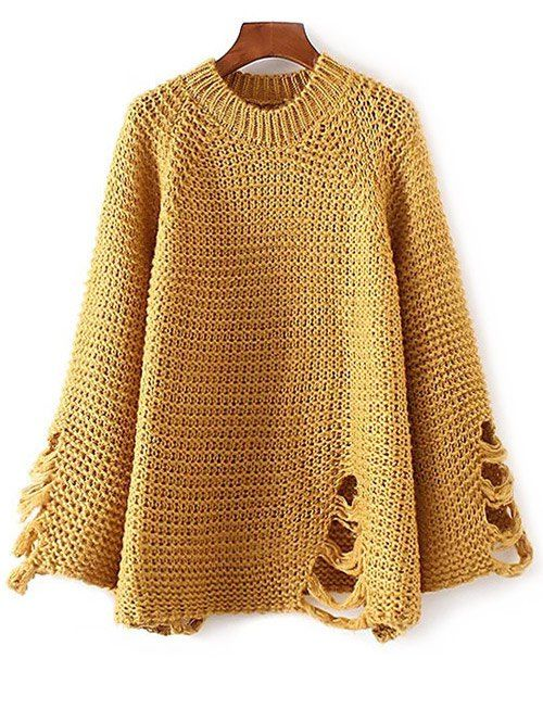 Ripped Chunky Knit Sweater #shoes, #jewelry, #women, #men, #hats, #watches