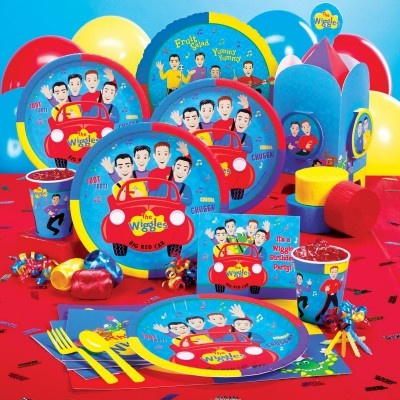 The Wiggles Basic Party Pack for 8  Brand new Design  $23.99