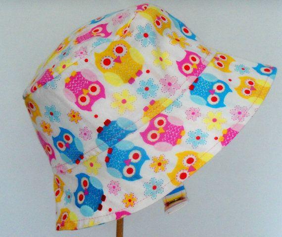 BUCKET HAT  Sun Hat  #Owls by 4PennyGirl on Etsy, $20.00