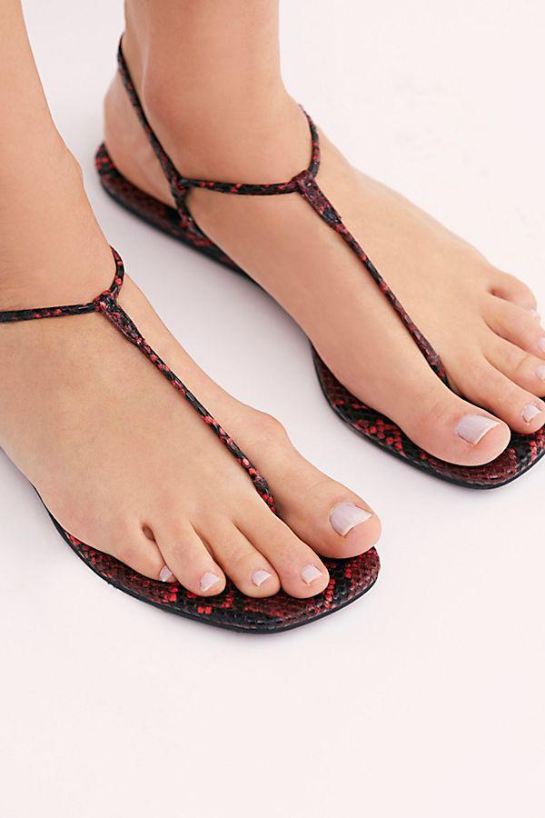 Charleston T-bar Sandals   Wedge