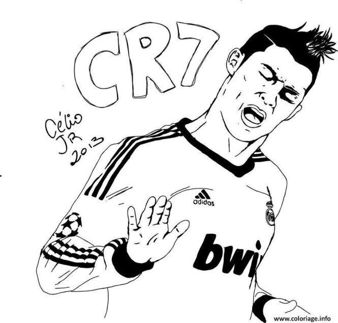 10 Coloriage Imprimer Ronaldo Cristiano Ronaldo Ronaldo Real Madrid Images