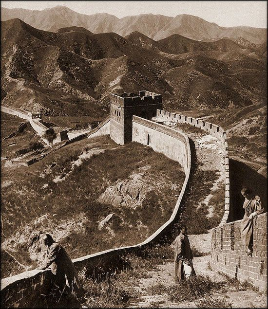 great wall of china 1907 herbert g ponting chine on great wall id=33635