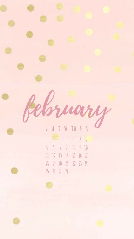 February 2018 Phone Wallpaper, February 2018 Calendar Wallpaper, February 2018 Calendar, February Screensaver, FebruaryBackground, Valentine's Day Background, Valentine's day Wallpaper