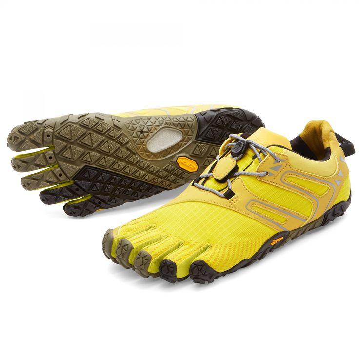 Vibram Fivefingers V-Trail Damen gelb/schwarz Der minimalistische  Offroadschuh für Querfeldeinläufer!