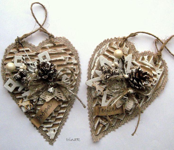 Скрап-ХоббиМания: Елочные украшения #4 (сердечки)