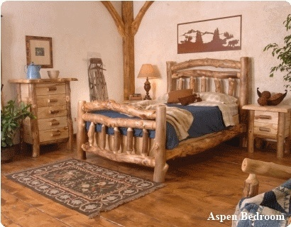 not only do i love the bed set but look at the log style molding in the corner of the room...  Love it!!: Rustic Bedrooms, Logs Bedrooms, Logs Furniture, Bedrooms Sets, Rustic Decor, Homesteads, Logs Cabins, Bedrooms Furniture, Bedrooms Ideas