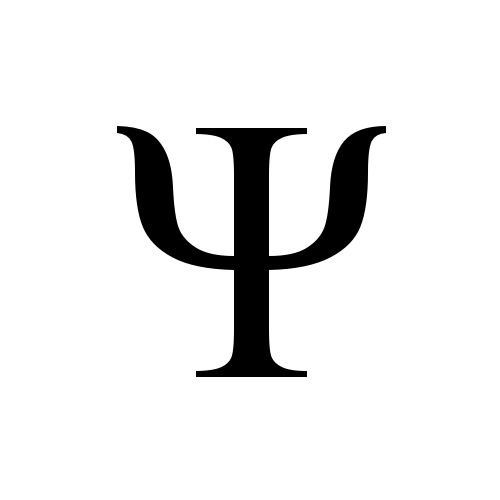 psychology tattoos | Psychology Greek Symbol http://graphemica.com/%CE%A8/glyphs/times-new ...