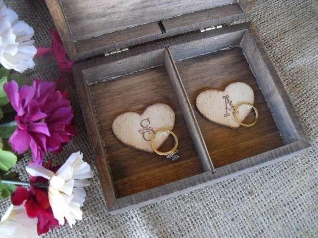 Porta-anillos para alianzas de boda: Las ideas más originales - Original caja para alianzas de boda