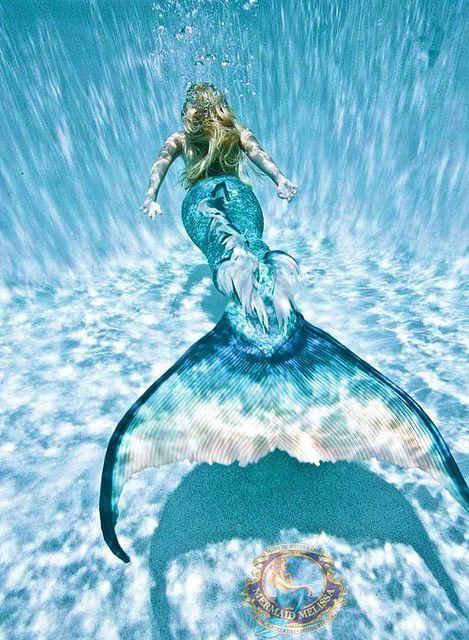 "cool shot of wanna be hannah mermaid ""mermaid melissa"""