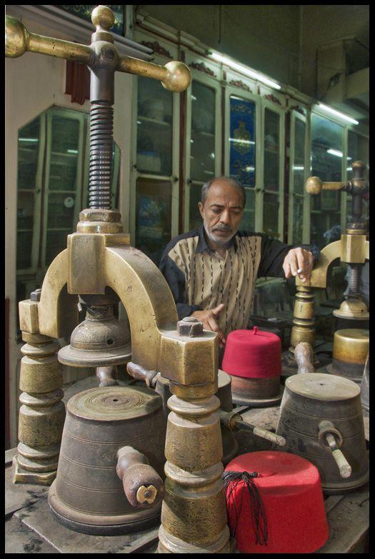 Fez manufacturer, Cairo, Egypt by keribar