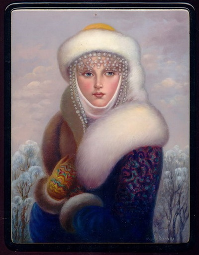 russian painting traditional costume