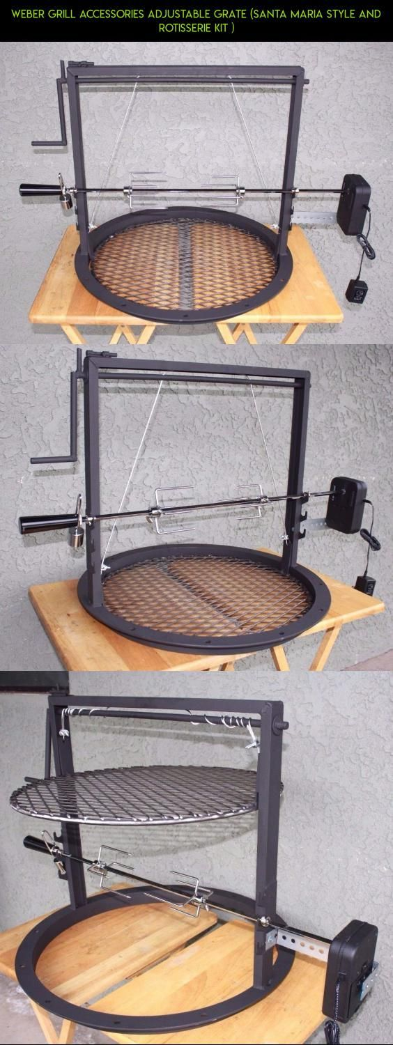 Weber grill accessories adjustable grate (santa maria style and rotisserie kit ) #camera #weber #drone #plans #tech #gadgets #products #grills #kit #fpv #parts #shopping #accessories #technology #racing