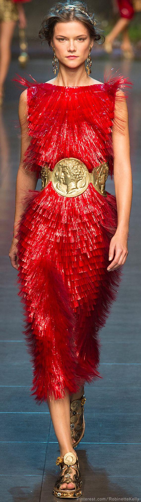 Dolce & Gabbana | S/S 2014 RTW...love the belt!