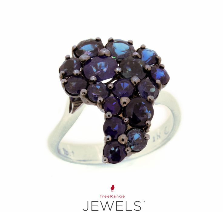 So excited about this white gold, blue sapphire claw-set ring. ♡ A statement piece of note.  Shop www.freerangejewels.co.za
