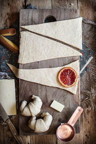 Croissants Three Ways: Candied Blood Oranges, Spinach & Feta, or Ham & Cheese