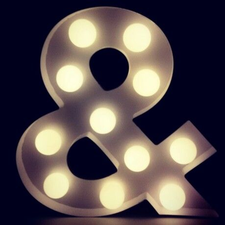 #circuslight #circuslamp #marquee ampersand #hema