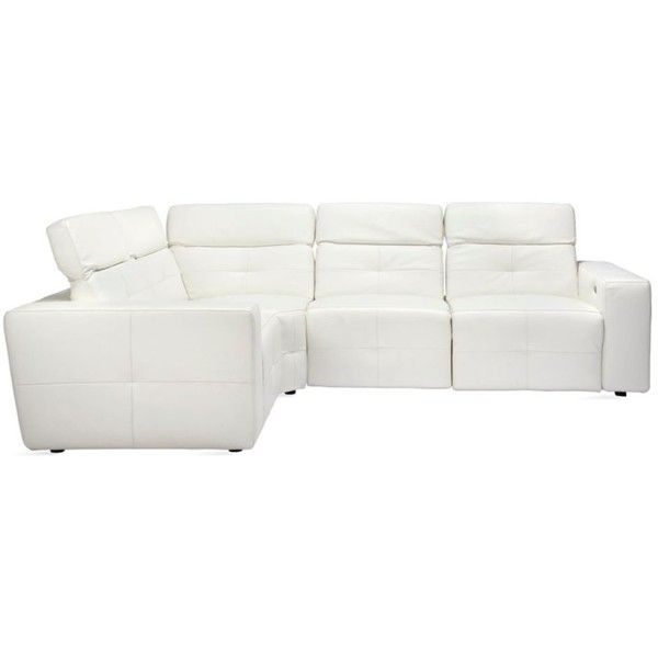 1000+ Ideas About White Leather Sectionals On Pinterest