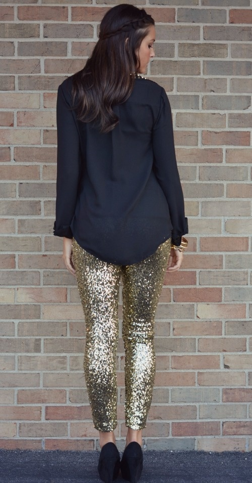 Sequin Leggings. So cute for christmas or new years party!