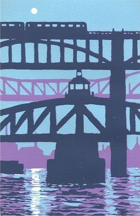 Moon over the Tyne by Ian Scott Massie