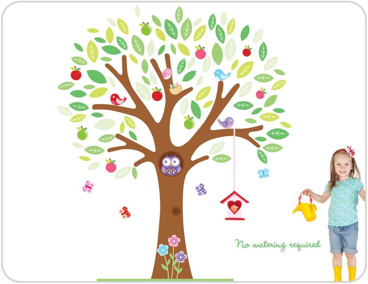 Kids rooms painted tree giant tree wall stickers girls wall art tree bright