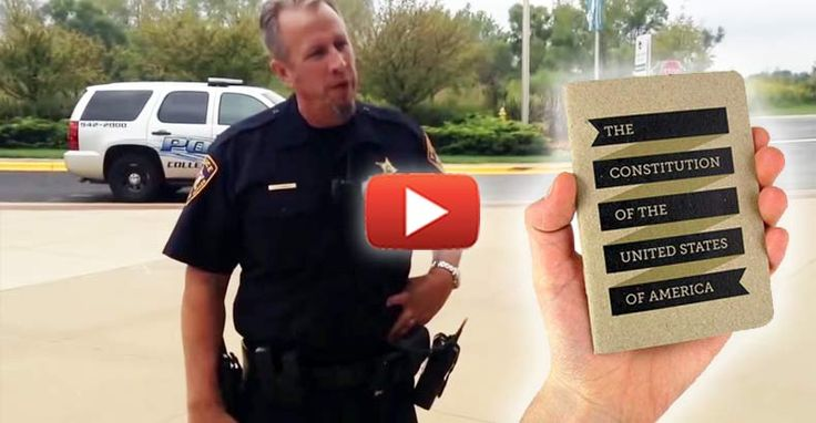 """Disturbing Video Shows Cop Threaten to """"Lock Up"""" College Kids for Handing Out Pocket Constitutions Read more at http://thefreethoughtproject.com/campus-cop-threats-lock-up-students-political-speech-campus/#h0b2Rgq8xDs27oS7.99"""