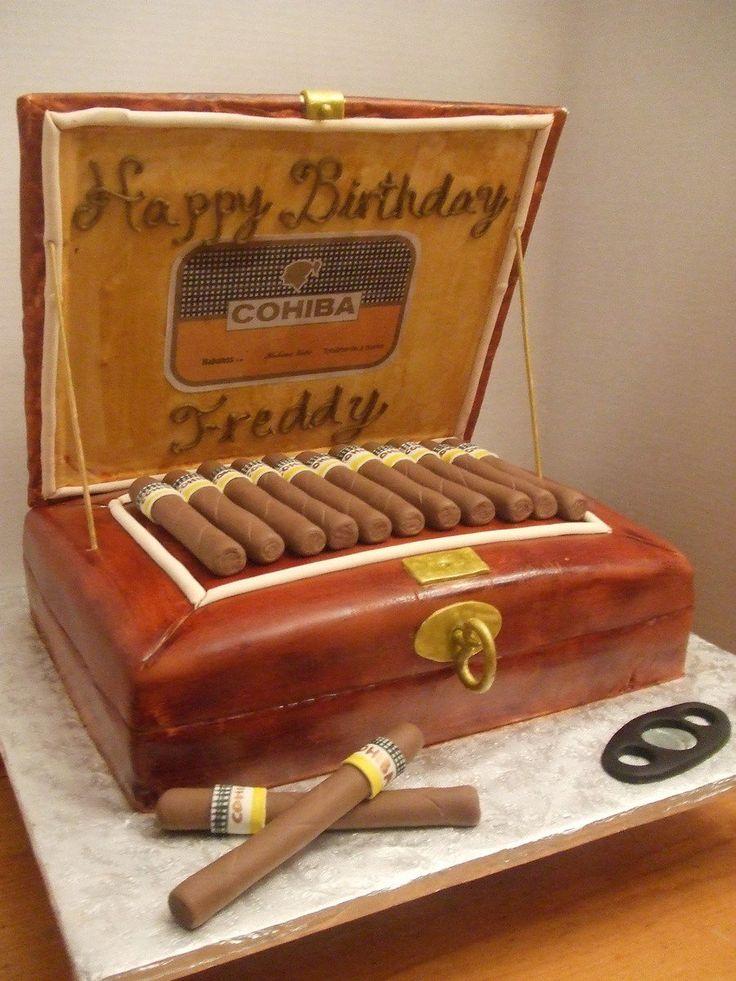 Cohiba Cigar Box birthday cake