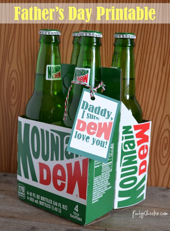 Fathers Day Printable: Mountain Dew Tag