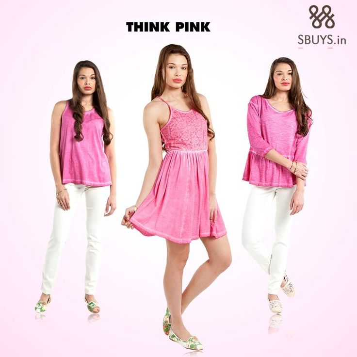 Hey #girls ! Want a #girly #style ? Select from our #pretty #pink collection ... Check Now >>> http://www.sbuys.in/ #women #tops #dress