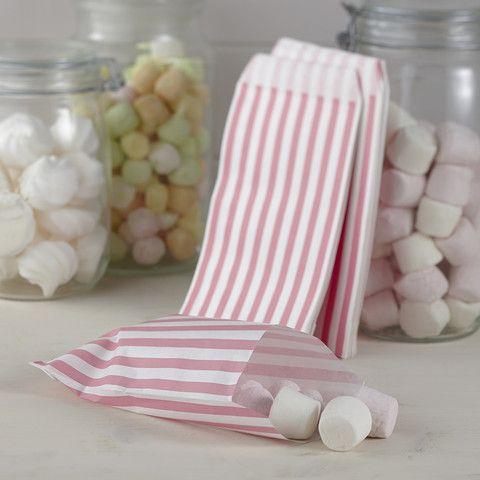 Vintage Lace Candy Bags - Pink & White - Cadeaux.ie €4.25