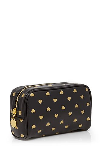 Heart Print Beauty Bag | FOREVER 21 - 1000118327