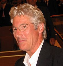Born	Richard Tiffany Gere  August 31, 1949 (age 62)  Philadelphia, Pennsylvania, U.S.  Nationality	American  Occupation	Actor  Years active	1973–present  Religion	Buddhist  Spouse	Cindy Crawford (1991–1995)  Carey Lowell (2002–present)  Children	Son