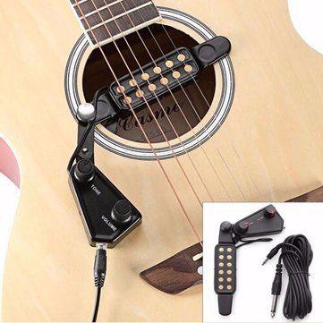 Acoustic Guitar Sound Pickup Amplifier 12 Holes with Tone Volume Control Sale - Banggood.com
