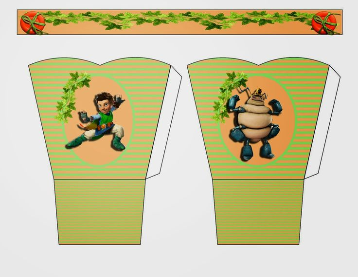 Tree Fu Tom: Free Printable Basket.