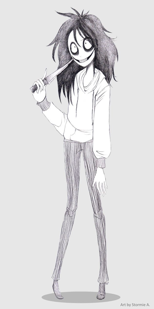 Jeff the Killer (Tim Burton-y style) by sketchytimez on deviantART