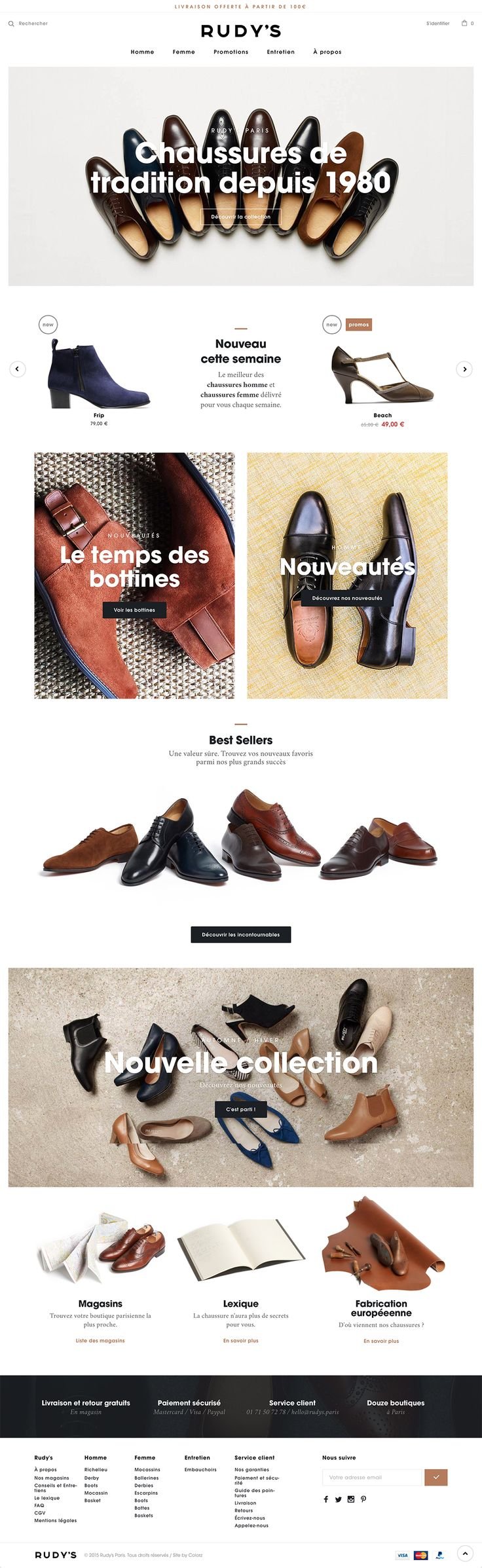 Inspiration. Parisian and family-owned shoes brand since 1981.