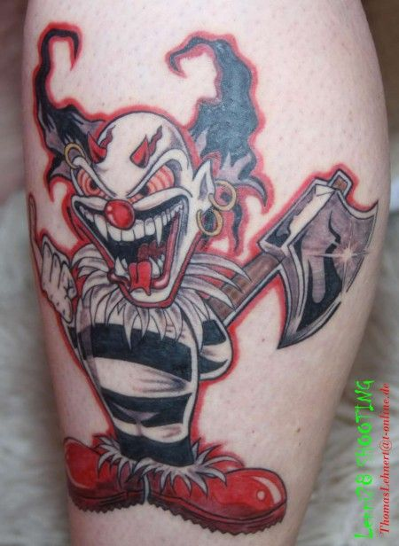 Devil Clown Tattoo