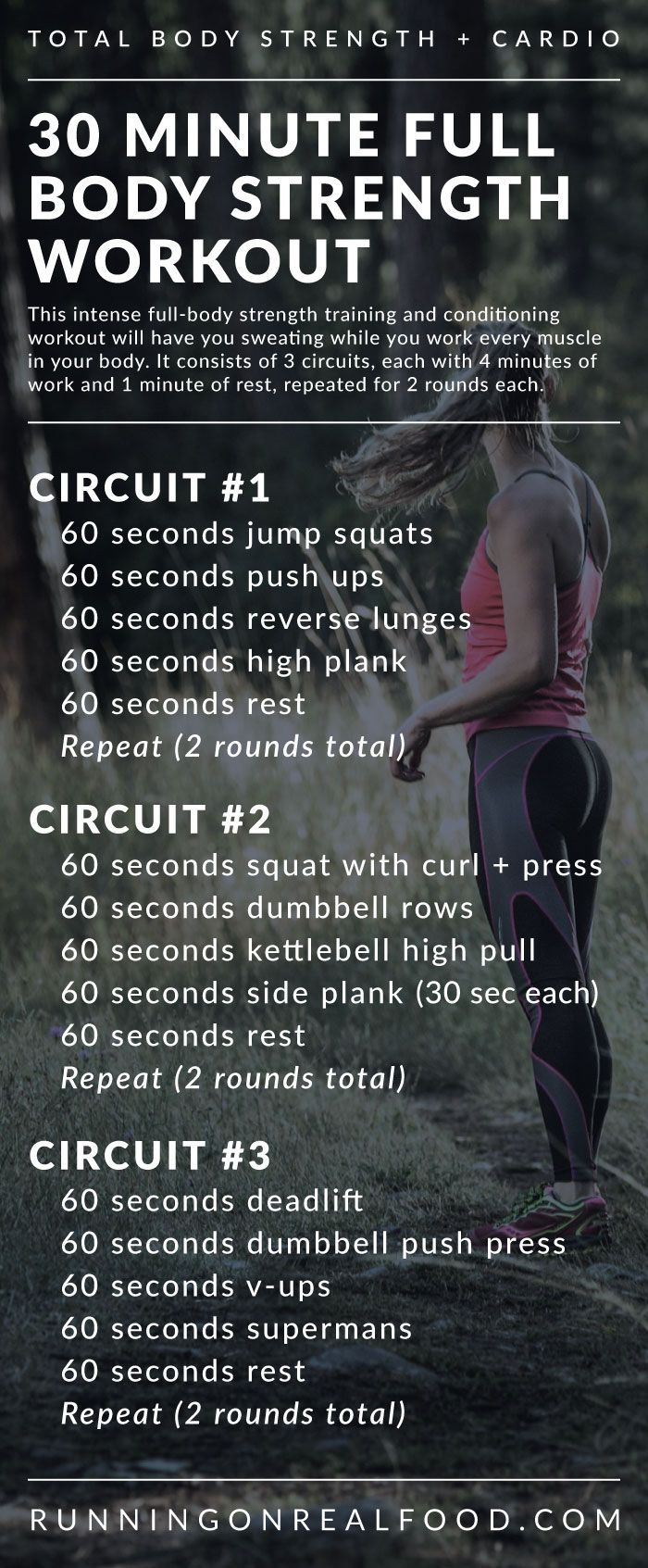 Get sweating and beat boredom with this 30 minute full-body strength training workout for the gym. Work every muscle, improve cardiovascular fitness, blast a ton of calories and have fun! You'll need some dumbbells, a kettlebell and a timer to complete th http://www.weightlossjumpstar.com/weight-loss-motivational-music/