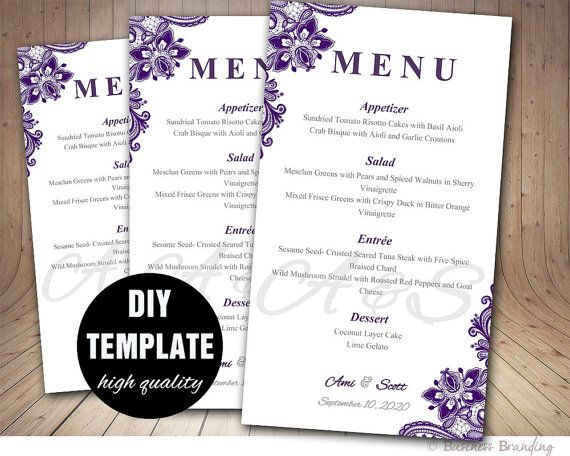 Best  Menu Card Template Ideas On   Restaurant Menu
