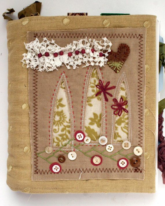 fabric journal cover by Rebecca Sower: Art Quilt Journal--Windows