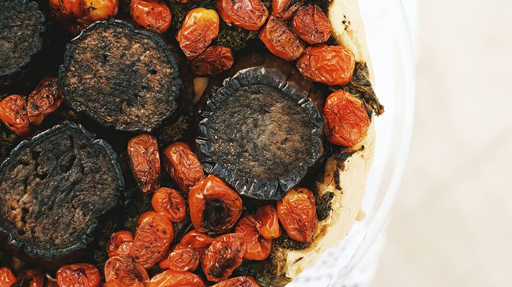 Moroccan-spiced eggplant and tomato tart // recipes, tarts, Easter recipes, brunch recipesEaster Recipe