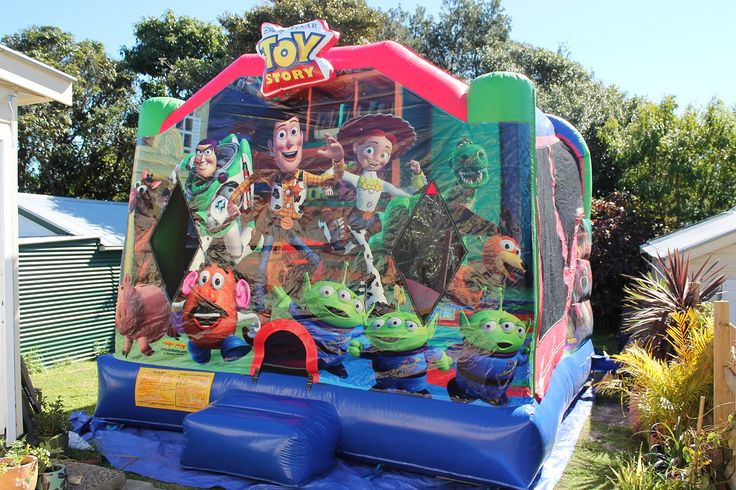The front view of the jumping castle....
