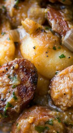 Saucy Hungarian Red Potato Goulash with Smoked Sausage and Savory Caramelized Onions ~ The perfect one-pan meal
