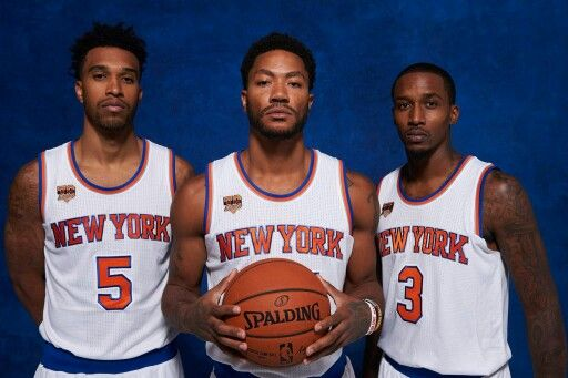 Knicks veteran guards Courtney Lee, Derrick Rose, and Brandon Jennings