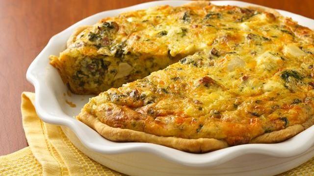 chicken and spinach quiche